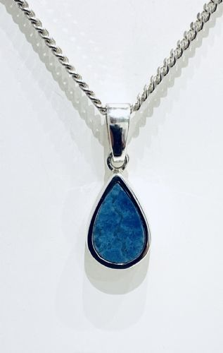 Sterling Silver Opal Pear Shaped Necklace